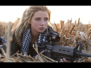Украина, Зона АТО. Девушка - снайпер из Беларусии в Ополчении 11/07/14.