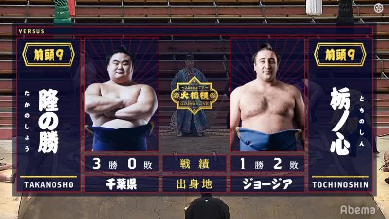 Takanosho vs Tochinoshin Haru 2020 Makuuchi Day 4