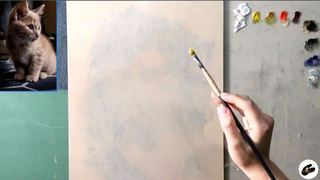 Oil Painting of a Kitten LIVE!  | Virtual Painting Session