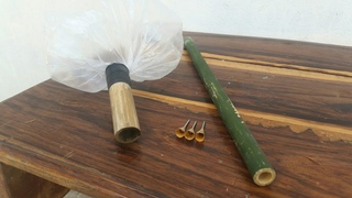 How to Make Bamboo Air Blowgun with Plastic bags