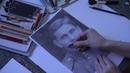 Как нарисовать портрет цветными карандашами по чб фотографии