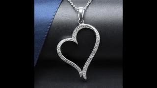 Hutang кулон в форме сердца из настоящего серебра 925 пробы, ожерелье с кубическим цирконием