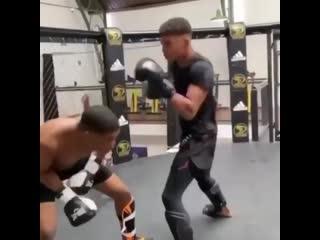Отработка защиты в боксе