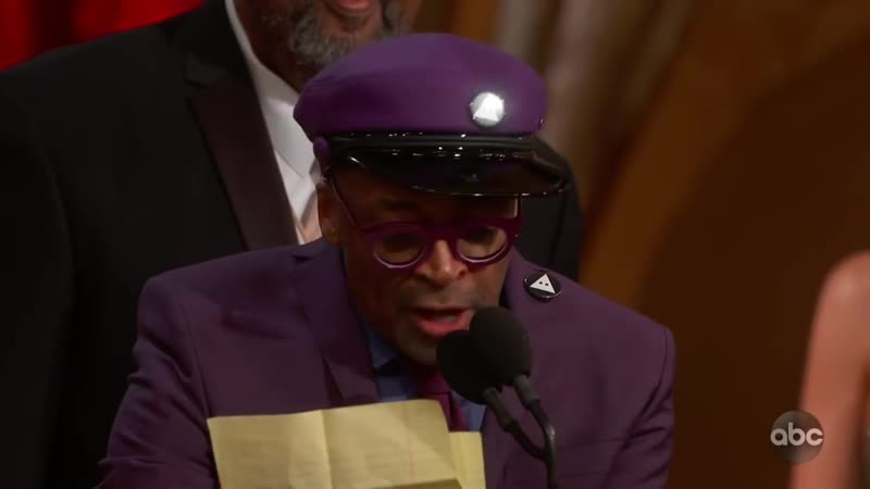 Watch Spike Lee's Oscars-2019 Speech for BLACKkKLANSMAN (ABC)