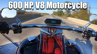 Boss Hoss V8 Motorcycle 600hp Test Ride and Specs