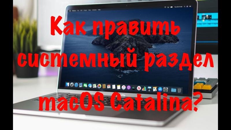 Как править системный раздел macOS Catalina