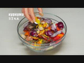 Мясные котлеты запеченные с овощами в духовке. Простой рецепт от Всегда Вкусно