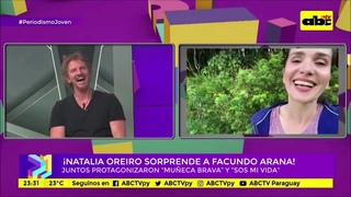 Natalia Oreiro and Facundo Arana - Periodismo Joven - TV ABC Paraguay -