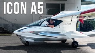 137. ICON A5 — сверхлегкий персональный гидросамолет. Демо полет (rus sub)