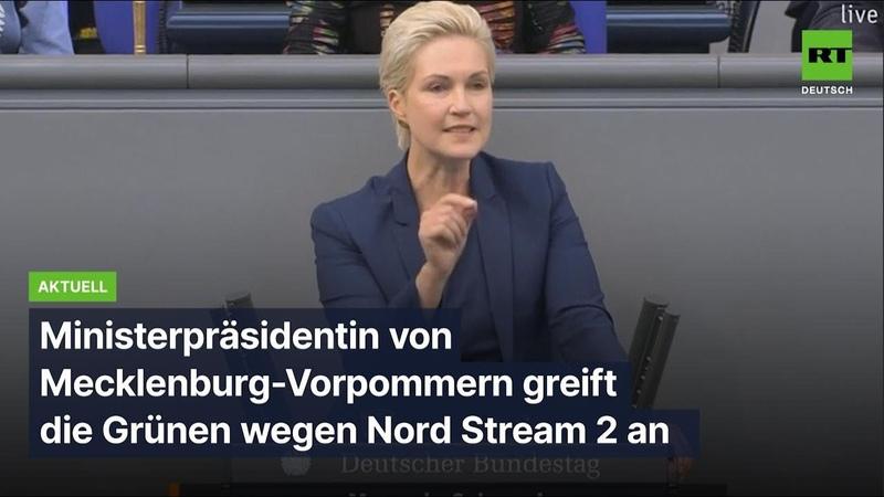 Schwesig trotzt Transatlantik Front Grüne schaden Mecklenburg Vorpommern