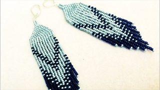 Native American style earrings /beading/jewelry making/diy