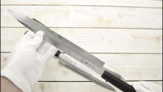 Обзор японских кухонных ножей Tojiro для суши и сашими. Янагиба 210/240/300мм.