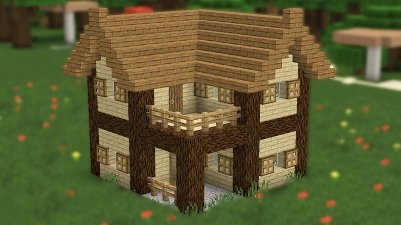 смотреть как сделать в майнкрафте маленький домик из дерева #1