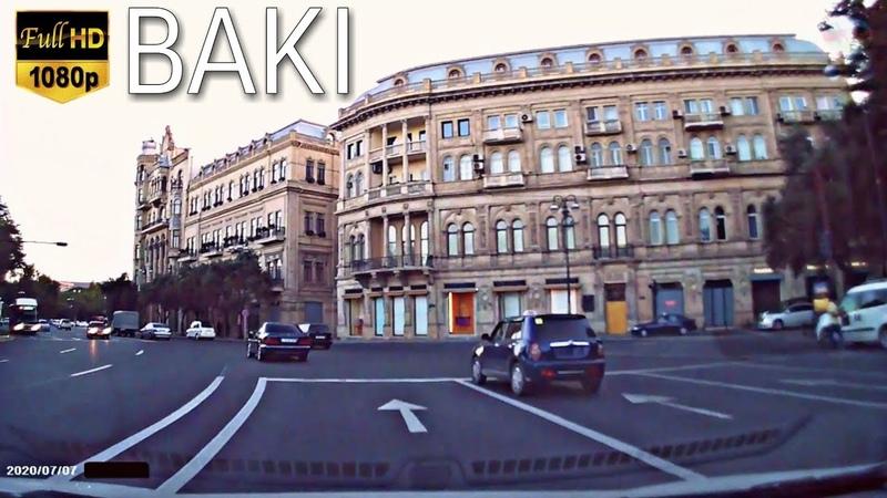 Bakı Küçələri 07 07 2020 Bakü Caddeleri Road Drive Baku Баку Азербайджан DRIVING TOUR BAKU