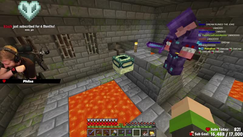 DreamSMP 4 LIFE DreamXD joins dream smp and BREAKS THE END PORTAL on Technoblade stream
