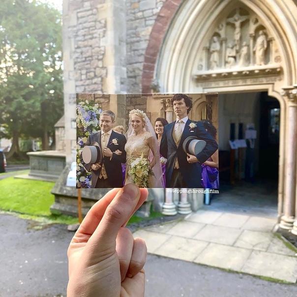 Сцена свадьбы в «Шерлоке» в реальных локациях на фотографиях Томаса Дьюка Место съемок Бристоль,