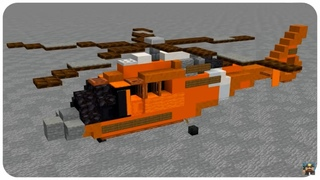 How to Build a Rescue Helicopter in  Minecraft (MH-65 Dolphin) Minecraft Rescue Helicopter Tutorial