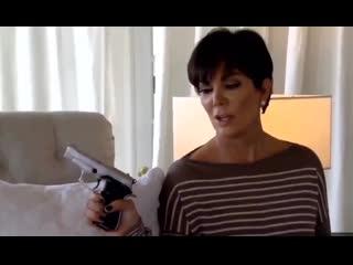 Kris jenner holding gun