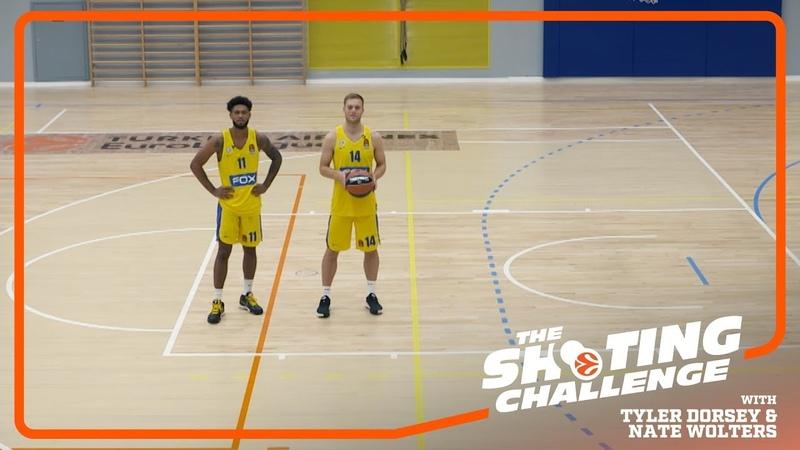 Shooting Challenge: Tyler Dorsey Nate Wolters Maccabi FOX Tel Aviv