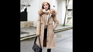 Женская куртка с капюшоном greller, зимняя теплая куртка с меховым воротником, большой меховой воротник, новинка 2020