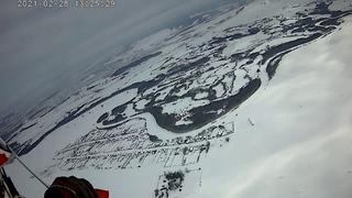 Мой прыжок с парашютом в прошедшем 27-28 февраля 2021 г. чемпионата Башкирии по Пара-Ски.