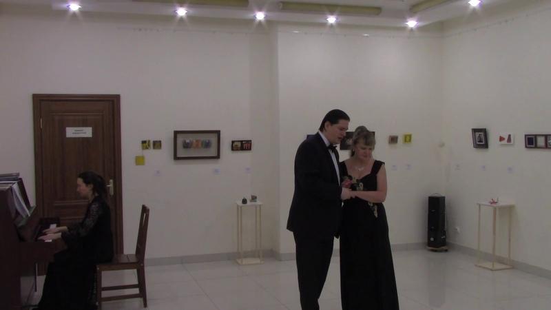Заключительный дуэт из оперы Аида Дж Верди исп Татьяна Акаскина и Сергей Боголюбский 1