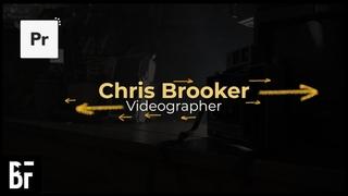 Simple Title Card Animation - Premiere Pro