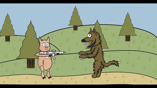 The Three Little Pigs Learn About Gun Control (Book Reading)