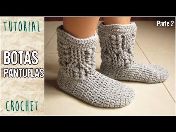 Como tejer medias pantuflas a crochet todos los talles Parte 2 3
