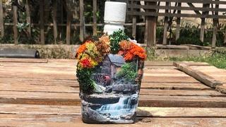 DIY: How to make seasons 2 decoration on whiskey bottle TUTORIAL