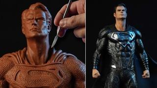 Sculpting SUPERMAN Black Suit | Justice League [ Snyder Cut ]