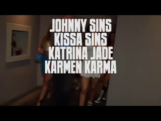 sinslife - Kissa Sins, Aj Applegate, Karmen Karma, Katrina Jade, Maddy OReilly - Johnny and Kissas Leaving Las Vegas