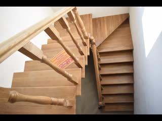 Видео обзор лестницы из ясеня под ключ в Ярославле Горница