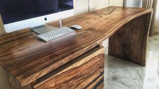 How to make a table. Live edge modern epoxy desk.